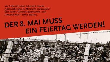 Ausschnitt aus dem Plakat zum Fest der Befreiung am 8. Mai 21
